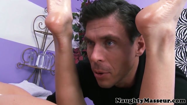 Busty massage amateur assfucked by masseur Ultra sexy legs