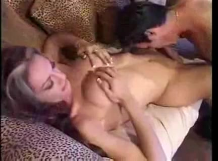 Oral act with a busty shemale