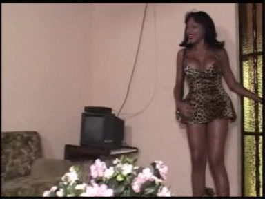 Ebony TS & Latina Shemale Screwing