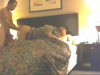 Alexia taking on 2 cocks at hotel