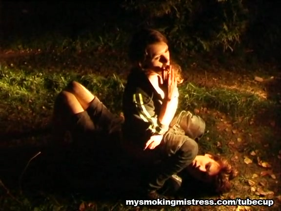 Smoking Lady Plays in the Forest teen sex fuck hyman