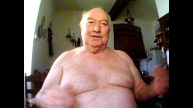 big belly grandpa show his body and stroke girls having fun with there dildos