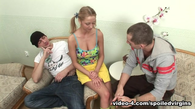 SpoiledVirgins - Blonde virgin has pussy explored before her spoiling sex by men Her first time fisting a girl