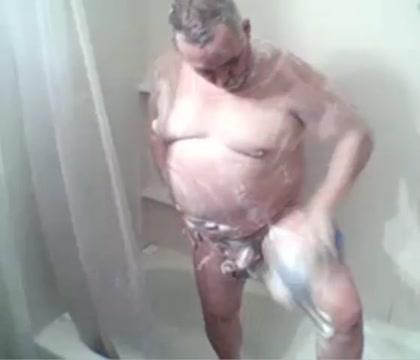 big balls grandpa get his shower Beautifull naked indian girl