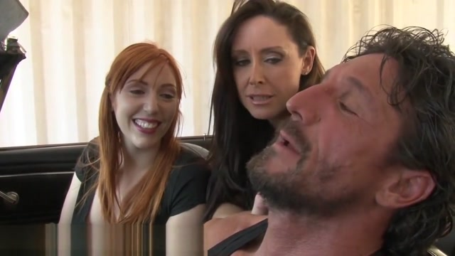 Mom helps Redhead Daughter Fuck Older Man