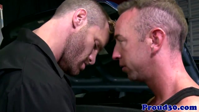 Mature hunk bent over doggystyle and fucked nude in we own the night
