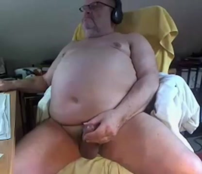 big cock grandpa stroke on cam (no cum) Shy naked girls spread