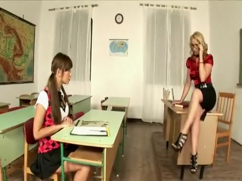 Nasty teachers seduced young student - .CF Lisa Ann Corset