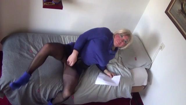 Shemale sex slave property of Mistress Jezz panty hose bodystocking nude