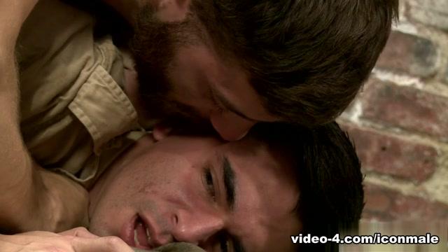 Tommy Defendi & Ludo Sander in Prisoner Of War Video Forced orgasm gif