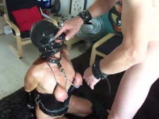Masked babe with tortured brea ...