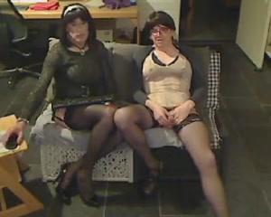 Dutch Tgirls have a bit of fun girls mud wreslting naked