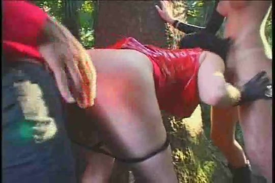 Fetish sex with a wild tranny in a forest Natalli di angelo interracial