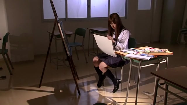 Rina Rukawa in School Girl part 2.2 Naked college girl and boys having sex