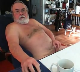 sexy grandpa stroke and cum on cam Oldje Mouth Piss