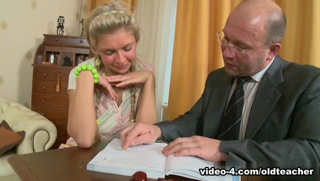 TrickyOldTeacher - Hot blonde student sucks cock of teacher and later is fucked by him Baby daughters pussy stories