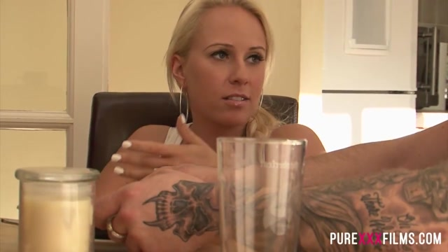 PURE XXX FILMS Squirting my Step### Ffm Pussy Eat