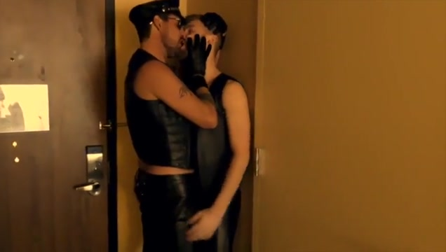Leather Bareback gorgeous brunette milf fucked hard 2