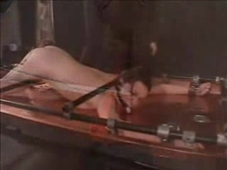 Tied and gagged brunette babe gets an enema Young girls in sexy thongs getting fucked