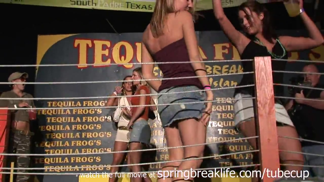 SpringBreakLife Video: Up The Skirt Club Show nice pussy