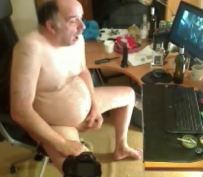 grandpa stroking and cum watching porn weed stuffed up ass