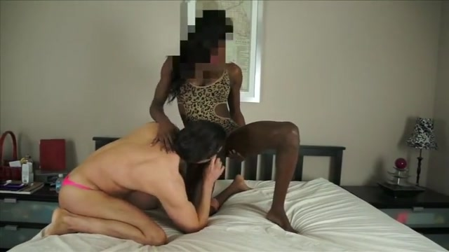 Huge cock black shemale fucks white guy drunk girlfriend sleeping fucked