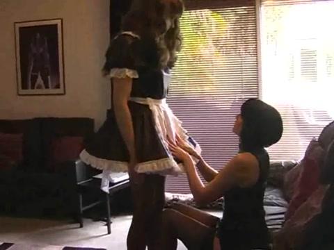 Nylon jane maid large Lisa shemale
