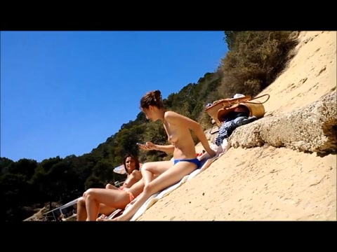 four topless college girl at the beach designer lingerie beverly hills