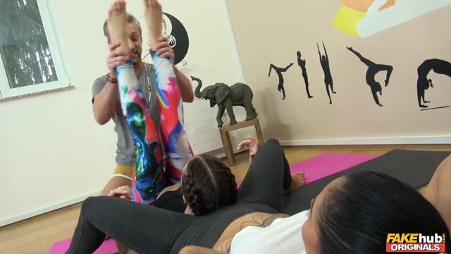 Canela Skin & Lutro Steel & Violetta in Dirty Yoga Teacher - FakehubOriginals Anne hathway sex fake
