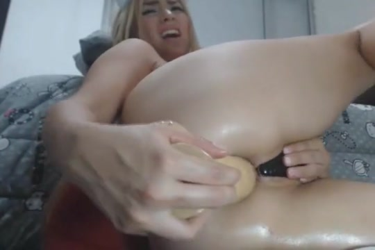 Hot Chick with Huge Dildo in her Ass free hd porn lesbian