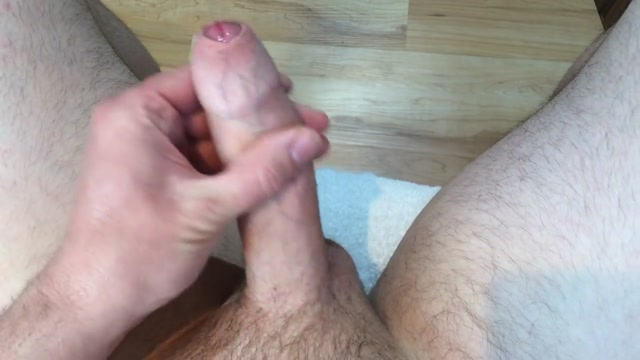 Condom wank with cockrings Big Cum Slut