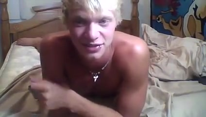 Horny blond twink boy wank his big cock gay sex party nyc