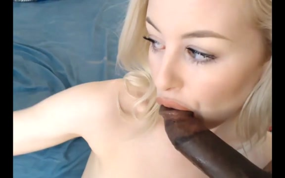 Blonde playing with bbc