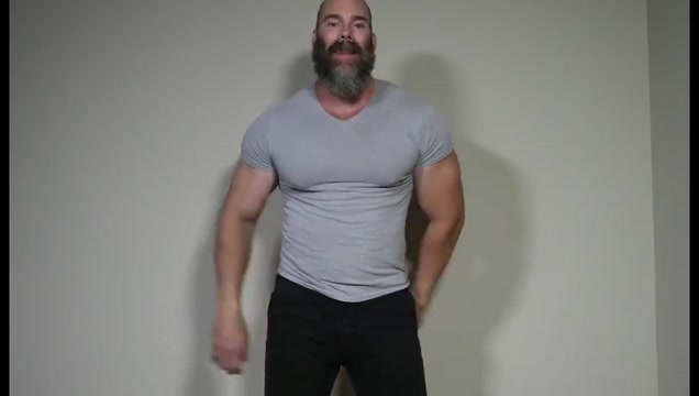 Muscle Daddy Rick Flex Jerk Off Cum shemale own cum eating
