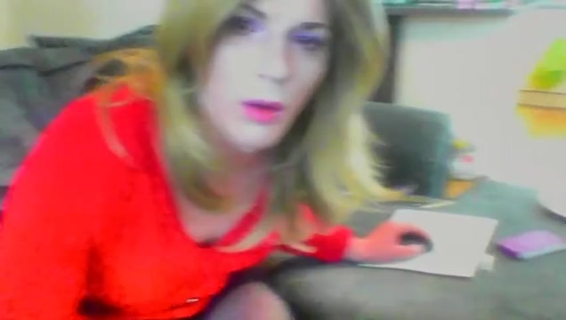 Crossdresser cumming on cam Stuffing throat with agents wang