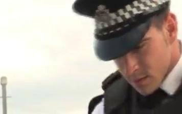 Police men gay pc porn prank