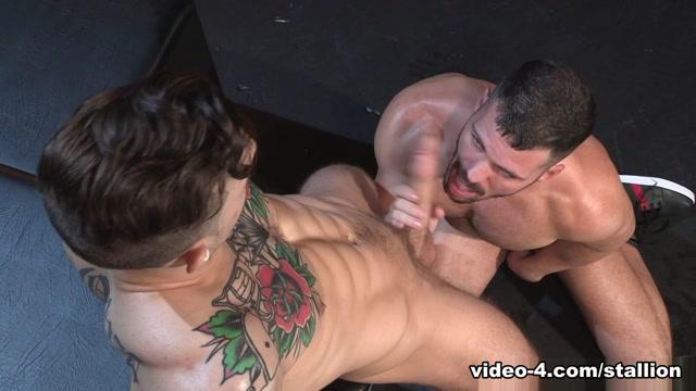 Brogan Reed & Sebastian Kross in The Thirst Is Real, Scene 02 - RagingStallion Getting electric jolts on big naked tits