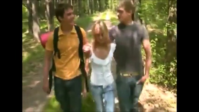 She get s caned for Bisex MMF in woods !!! As brasileirias porno