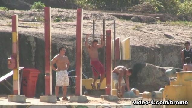 Alef Carvalho & Denis Torres & Marcelo Souza in Sex In The Shower Scene 2 - Bromo smoking ganja xxx porn