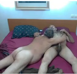 Grandpa couple on cam 2 Held down dick in mouth