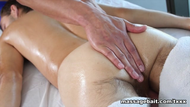 Rubbed The Right Way - MassageBait Pantyhose white lick dick cumshot