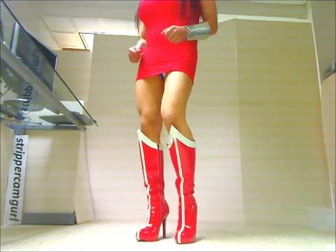 Sexy Sissy Crossdresser dancing in Wonder Woman Leotard leicester city porn full