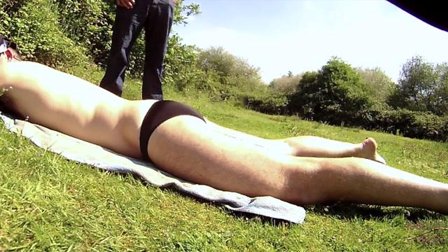 Caught as I enjoy a sunbath in a transparent black brief traci lords hot pics