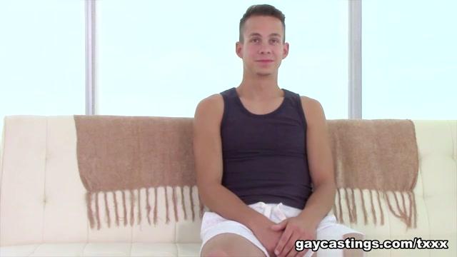 Garrett - GayCastings first ass fuck bbw