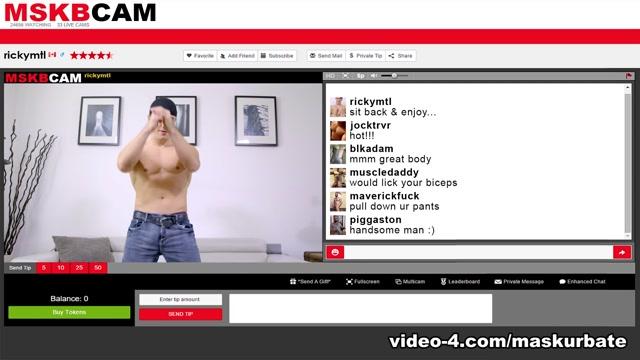 Ricky in MSKBCAM - Ricky XXX Video - MaskUrbate Nude Breast Pushing