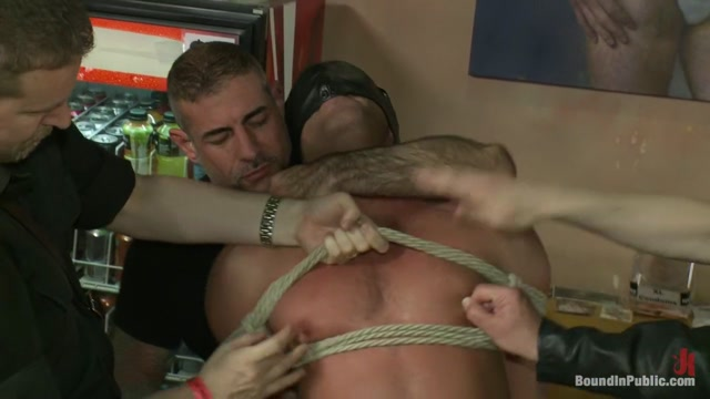 Muscle stud gangbanged at Club Eros sex club Sperm donation shipped to your house