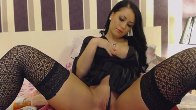 Beauty In Sexy Black Lingerie Squirting Pussy Juice Shaping pantyhose spanx