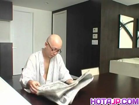 Tomoe Hinatsu rides boner Fuck my slut wife