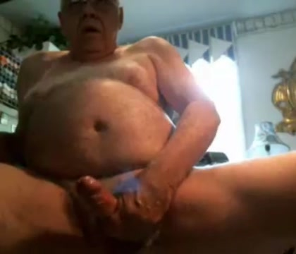 Grandpa cum on cam 3 Before your wife gets back huge tits