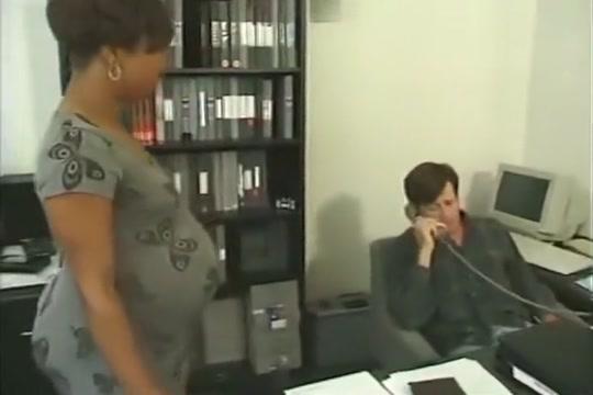 Prego Ebony Takes White Cock In The Office pregnant preg prego preggo Erik satie gymnopedie